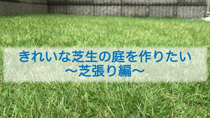 きれいな芝生の庭を作りたい〜芝張り編〜