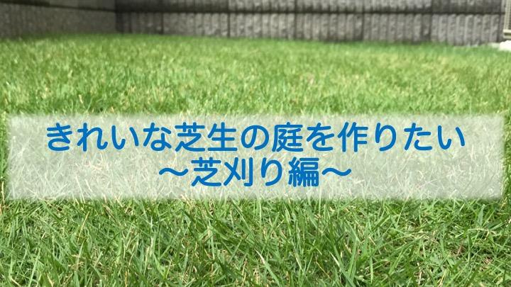 きれいな芝生の庭を作りたい〜芝刈り編〜