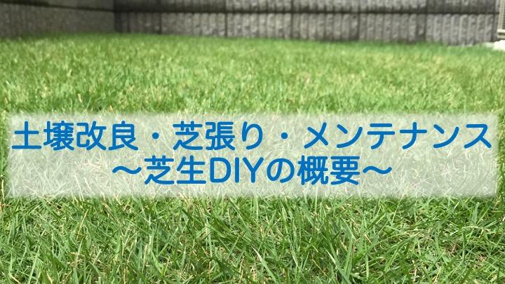 土壌改良・芝張り・メンテナンスなど、芝生DIYの概要